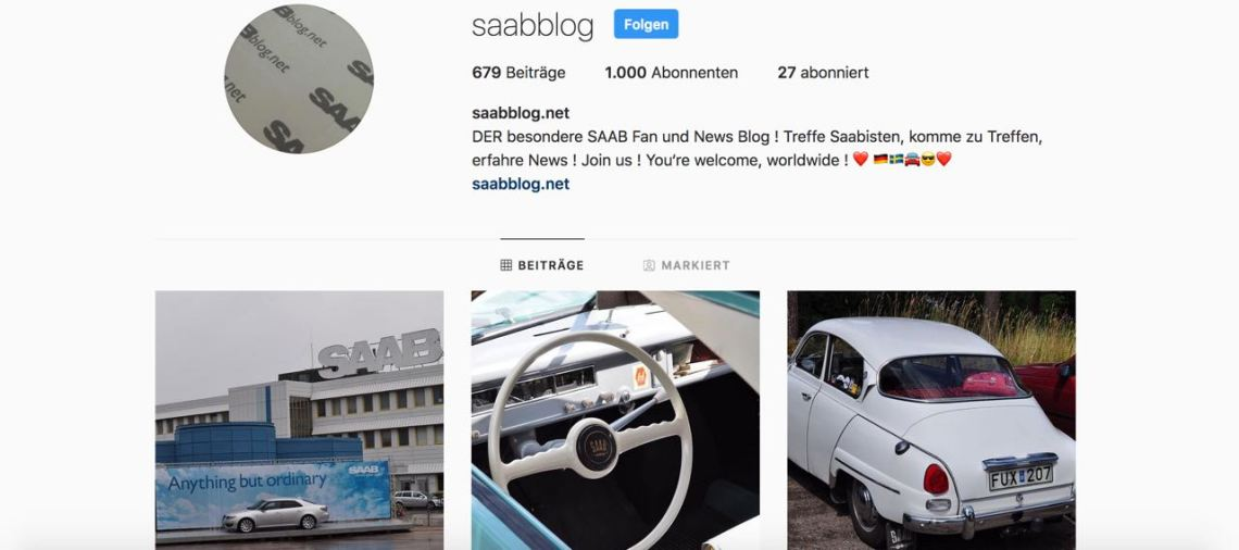 Action Saab Instagram