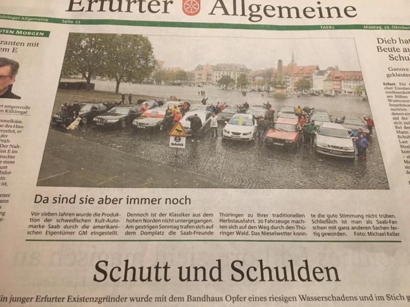 Saab in the Erfurt general