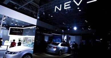 NEVS 9-3 EV in Hangzhou. Das ist kein Saab - oder doch