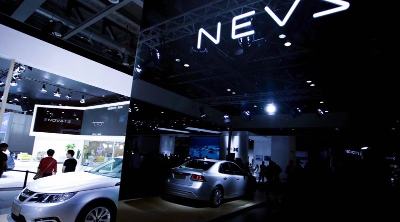 NEVS 9-3 EV in Hangzhou. Dit is geen Saab - of tenminste