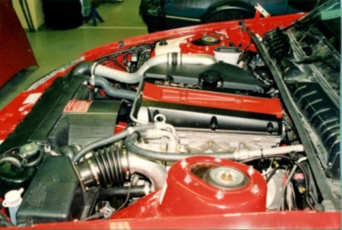 A Saab engine in the Holden Commodore