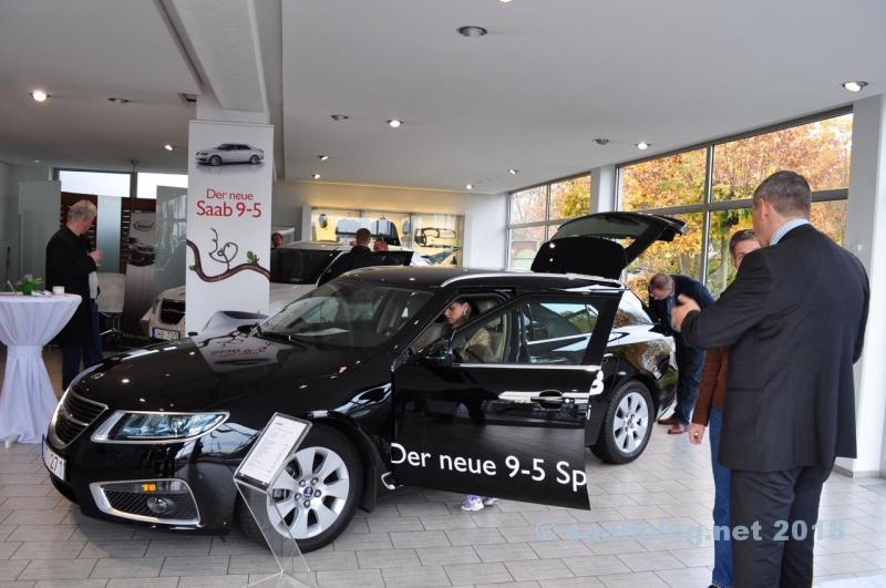 Saab Zentrum Mainz durante a visita ao revendedor 2011