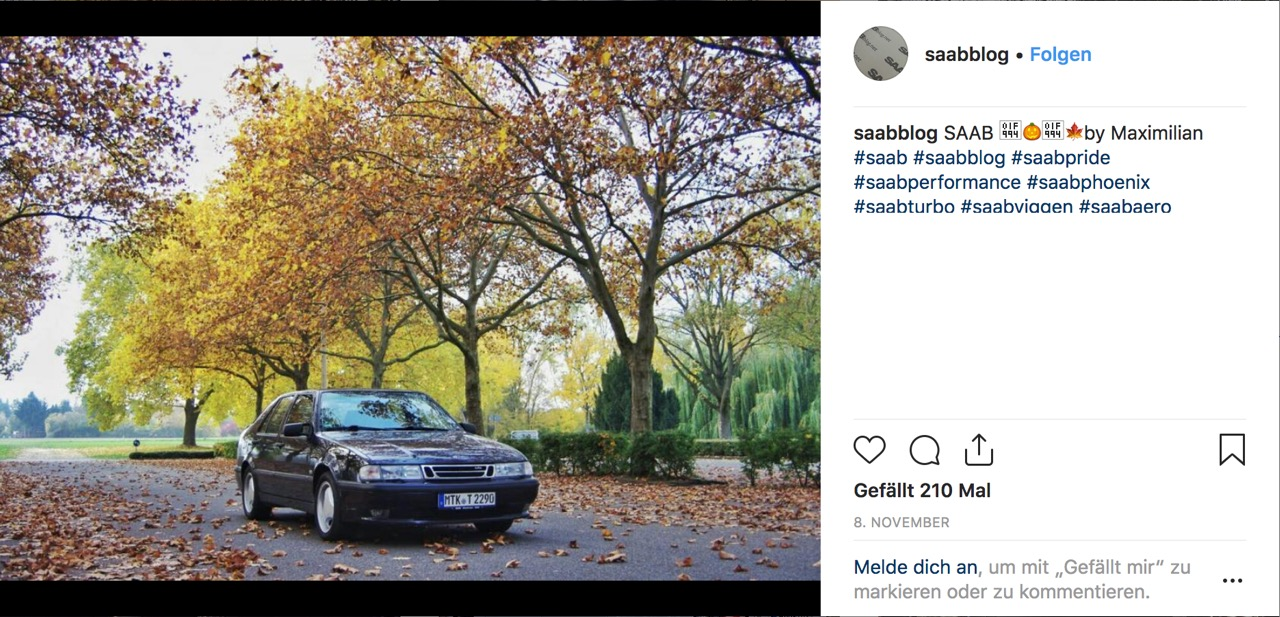 Saab Instagram Bild November 2018 - SaabBlog.net d79e66a2ce99f