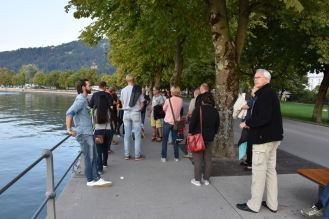 Saab Fahrer erkunden Bregenz