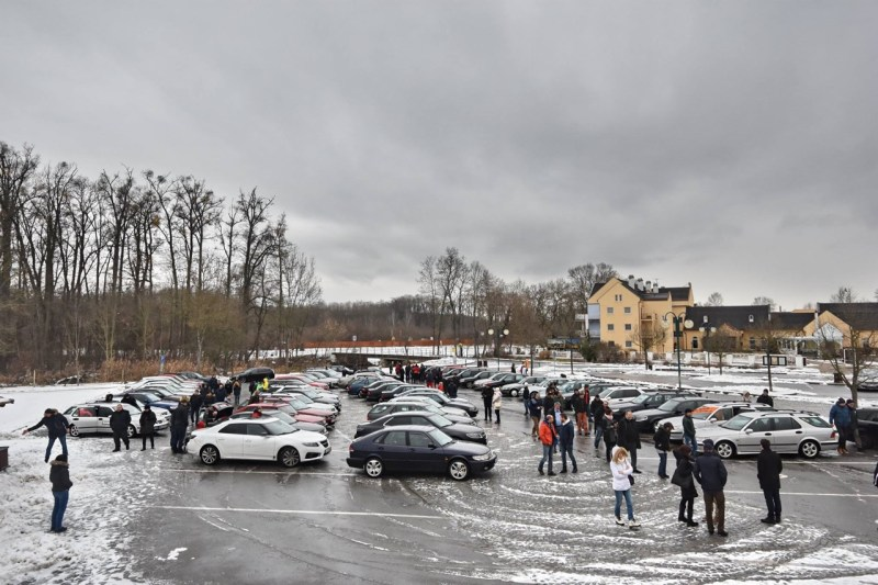 55 Fahrzeuge beim Saab Support Convoy 2019