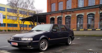 Saab 9000 CSE 2.3 turbo. قصة اختبار القيادة.