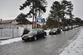 Eintreffen der tschechischen Saabgruppe