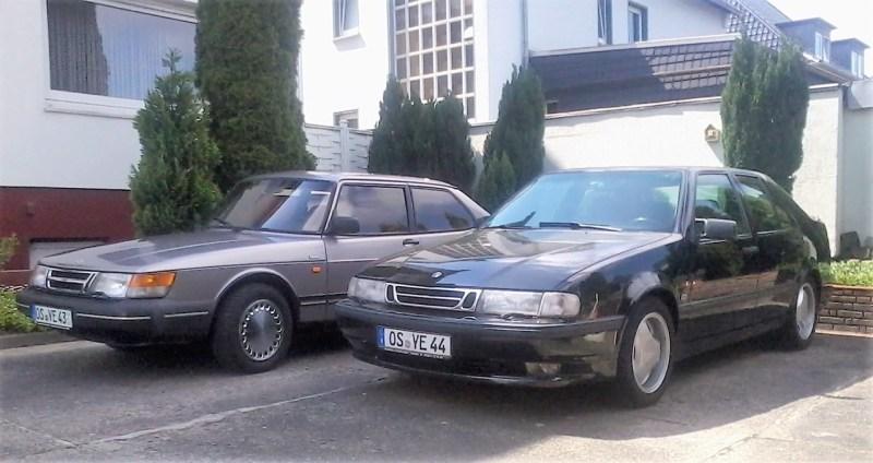 Saab 900 Coupe in Rosenquarz-Metallic