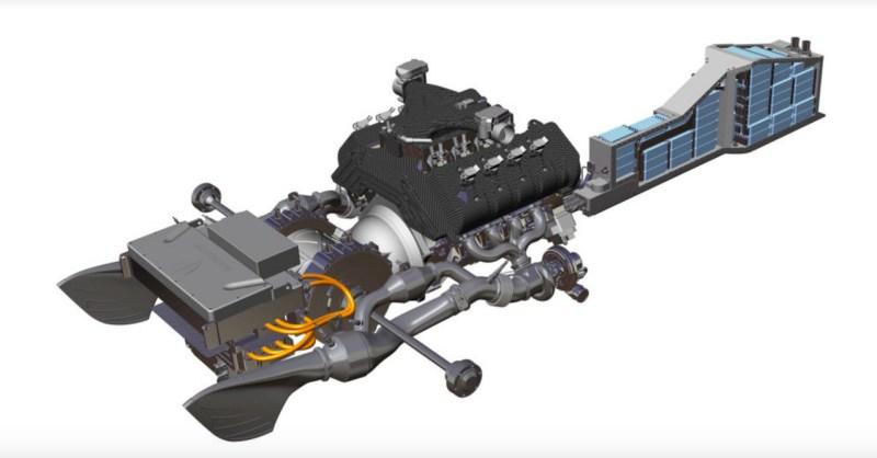Powertrain híbrido Regera. Imagem: Koenigsegg
