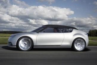 Ein sportliches Coupe, im typischen Saab Design