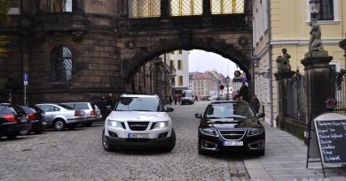 Saab 9-4x e 9-5 NG SC a Dresda