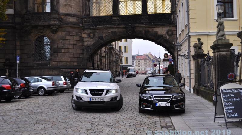 Saab 9-4x et 9-5 NG SC à Dresde