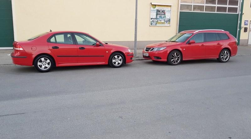 Leben mit Saab. Beide Saab 9-3