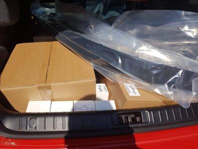 Transporte de accesorios originales Saab.