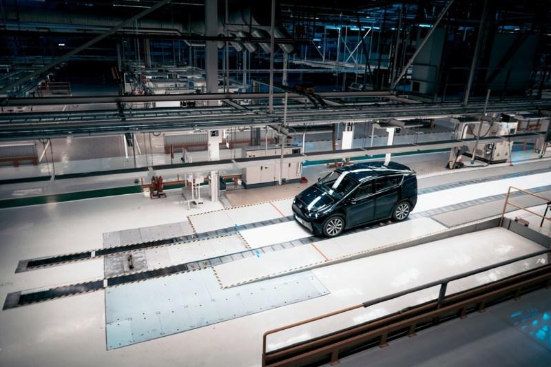 Sono Motors prototype in the former Saab factory in Trollhättan