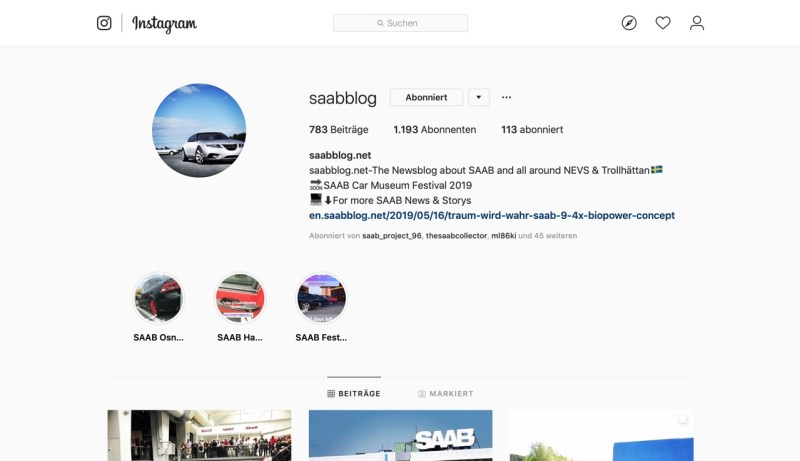 Follow the blog live on Instagram!