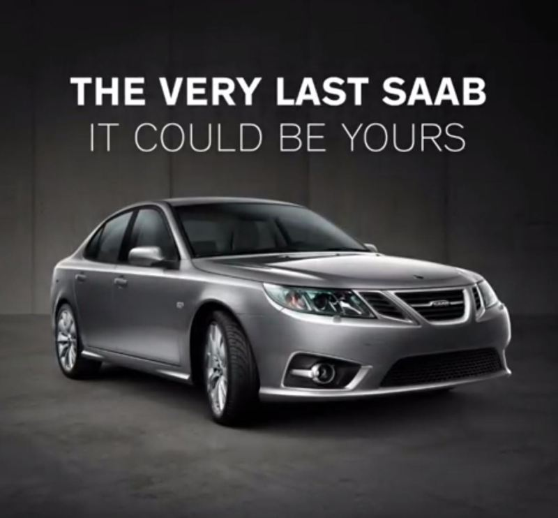 O último Saab. NEVS via Instagram