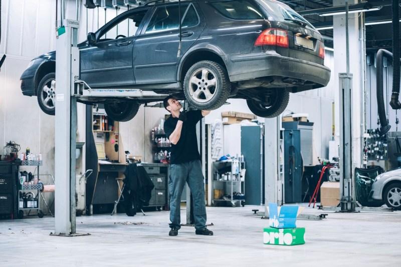 Saab/Orio Partnerwerkstatt. Bild: Orio AB