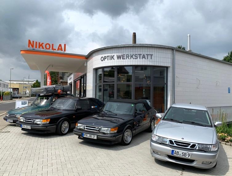 A oficina de óptica Nikolai é sempre um ponto de encontro para os fãs da Saab