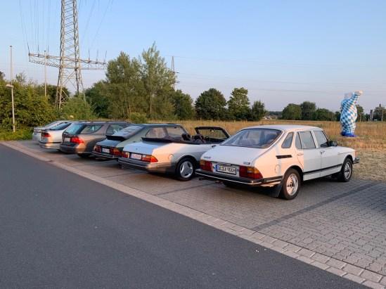 Small Saab meeting at Alzenau
