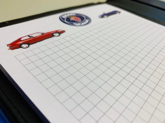 Saab-mapp och blogg med Saab-Scania-logotyp