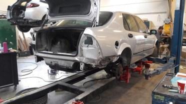 La Saab après l'accident