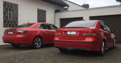 Two red Saabs. OK then!