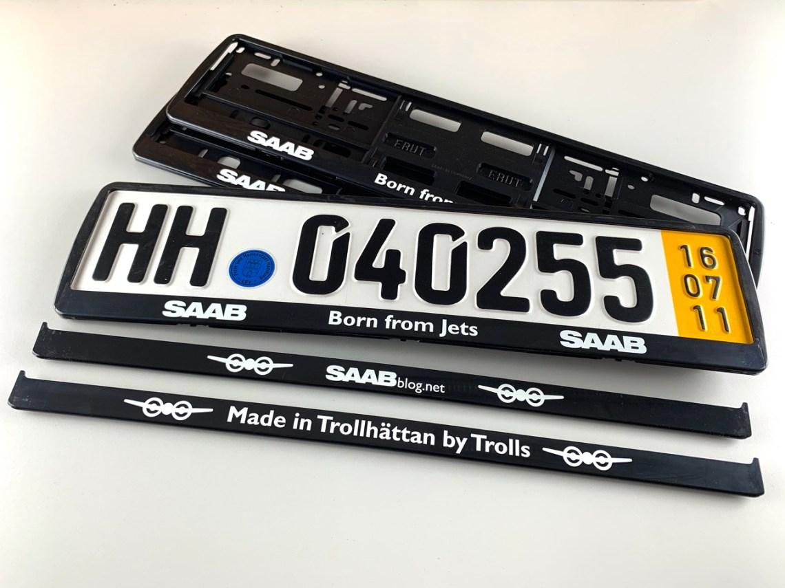 Saab Kennzeichenhalter in 3 verschiedenen Varianten