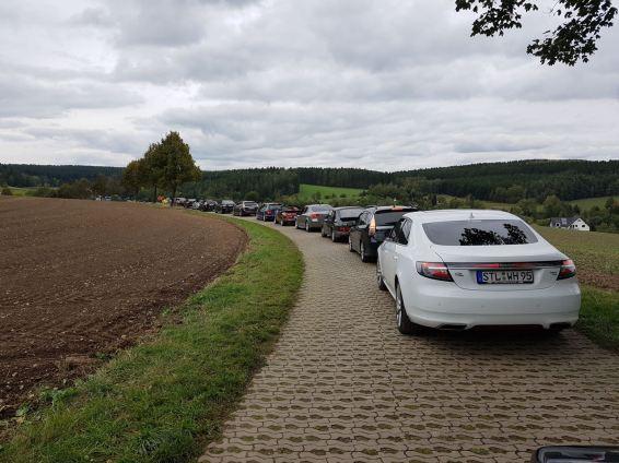 Ausfahrt der Saab Freunde Sachsen