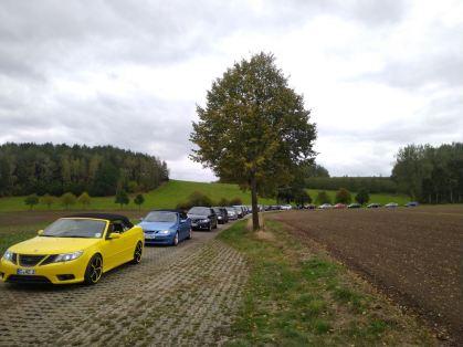 Saab en el camino en Sajonia