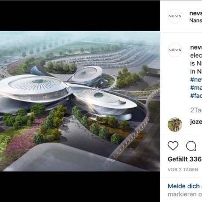 Nova fábrica de automóveis NEVS Evergrande Hengchi em design orgânico