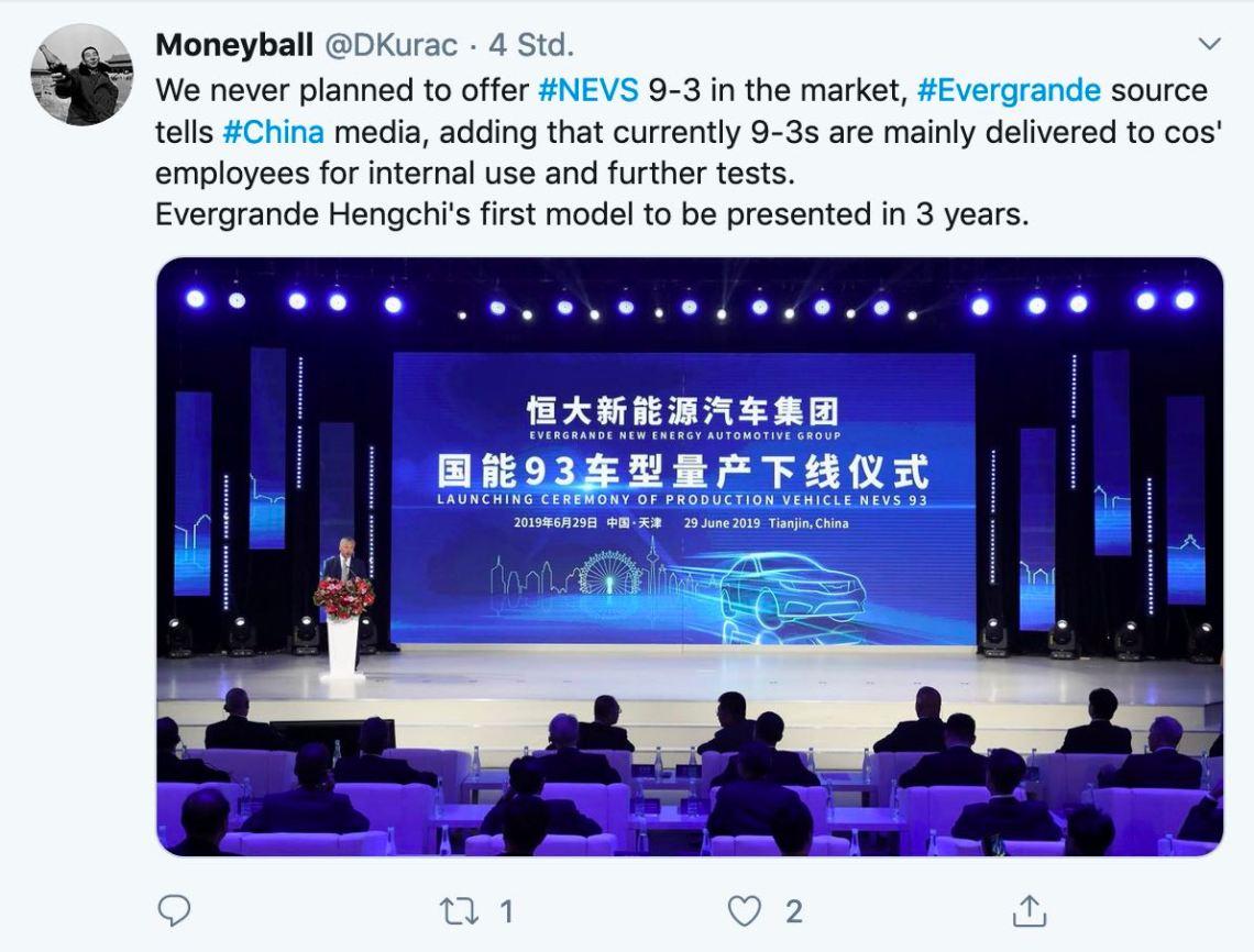 Le NEVS 9-3 EV ne sera-t-il jamais sur le marché? Il y a des faits qui parlent pour cela.
