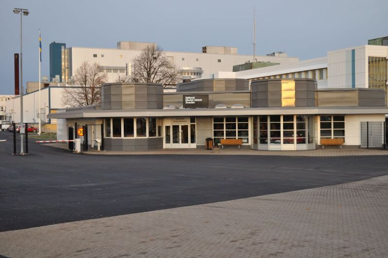 Haupteingang früheres Saab Werk in Trollhättan