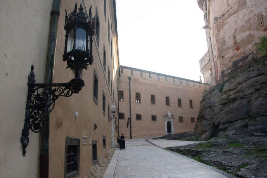 The courtyard of Castle Bojnice