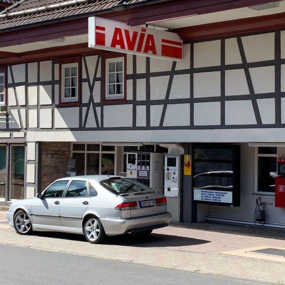 Tankstelle in der Rhön. Auch aus der analogen Zeit.