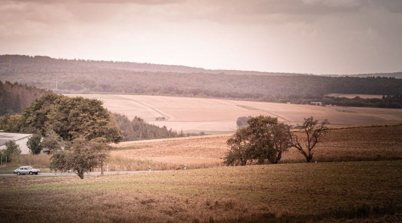 Taunus landscape with Saab