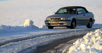 Andreas' 9-3 Cabriolet is on the road in Upper Bavaria, more precisely in Murnau.