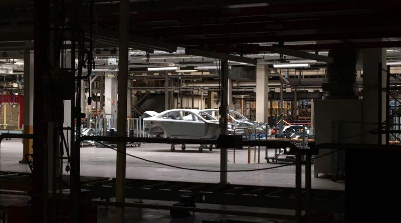 Uitzicht op de voormalige Saab-fabriek. De Sion moet hier worden gebouwd.