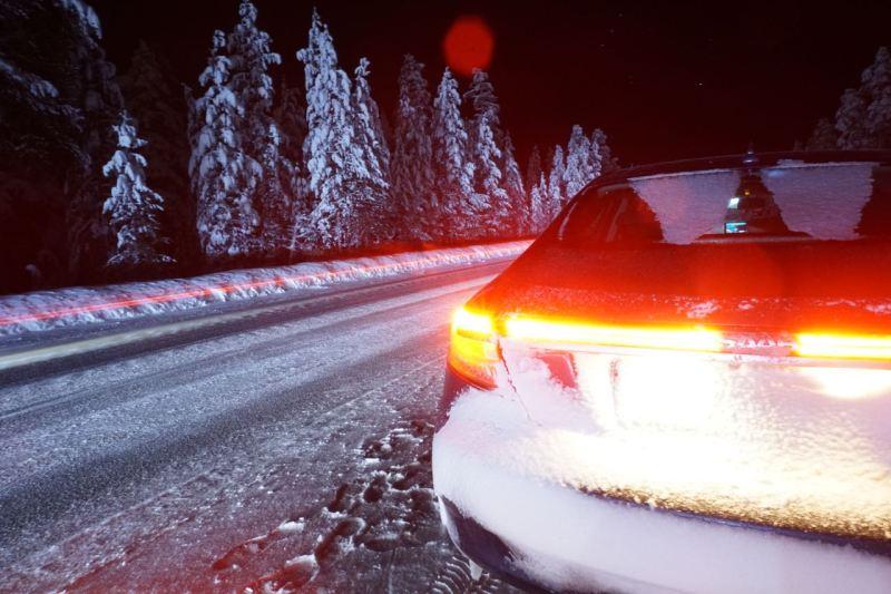 Arvidsjaur liegt in Lappland. Dort war Markus mit dem 9-5 NG unterwegs.