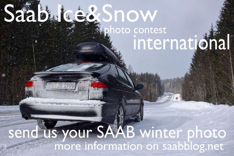 Saab Snow & Ice, das Saab Winter-Foto.