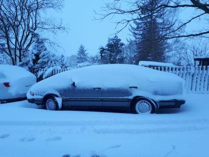 Herkend? De 9000 van Alex is verborgen onder de sneeuwkap.