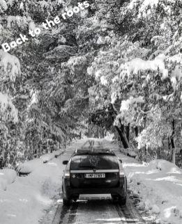 Sneeuw! De natuurlijke omgeving voor de 9-3x van Alex.