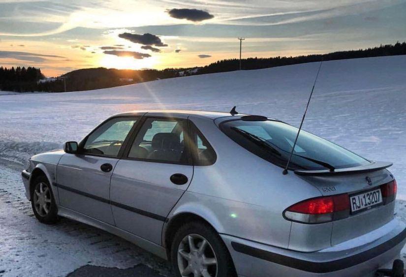 Le 9-3 d'Ine dans un paysage hivernal en Norvège