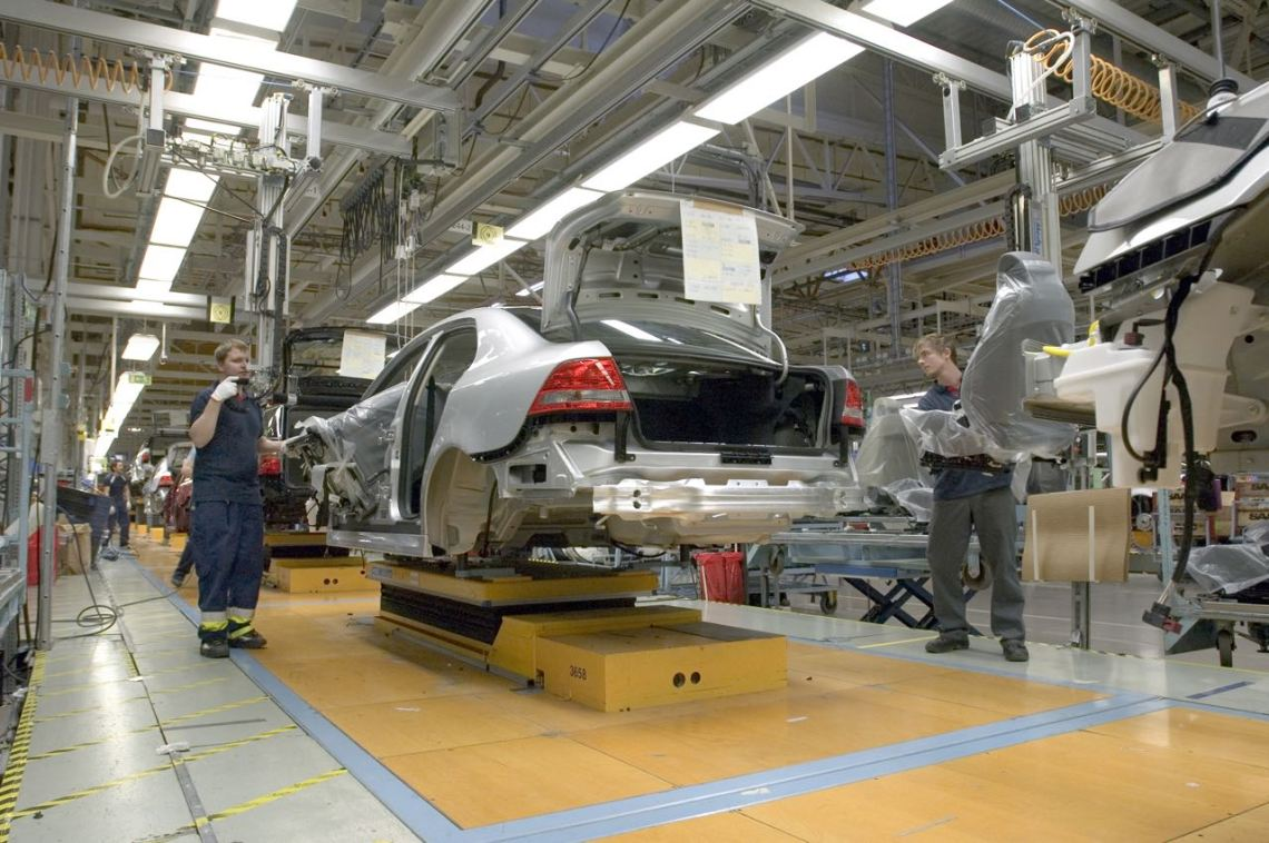 Saab-productie in Trollhättan