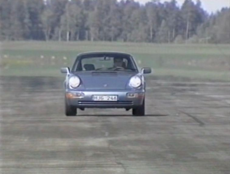 Porsche 911 Carrera 2 on the Saab test track
