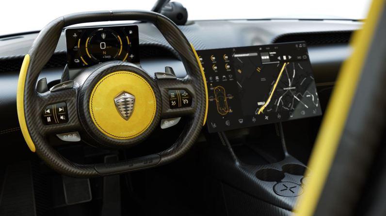 Cockpit van de Koenigsegg Gemera