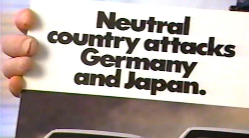 Sweden against Germany and Japan