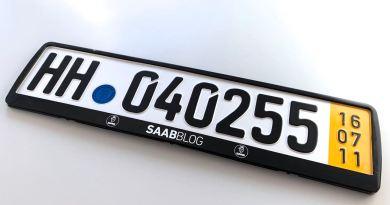 Die neuen Saabblog Kennzeichenhalter sind da