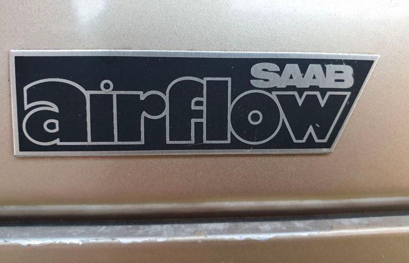 Ebenfalls rar: Der Saab Airflow Aufkleber