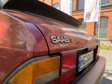 Rood leer en rode lak, de Saab heeft een bijzondere combinatie.